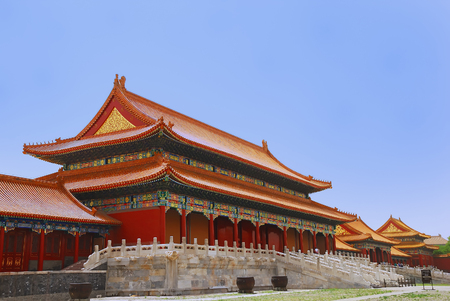 Emperor ancient  temple in the Forbidden city