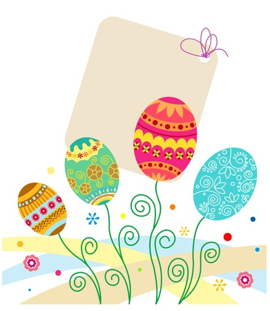 vector eggs: Easter eggs background for holiday cards design. Vector illustration