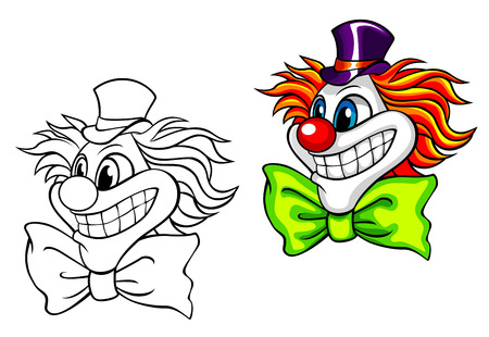 Head of happy circus clown. Vector illustration Stock Vector - 22472423