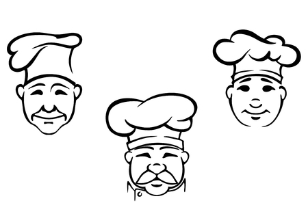 Cookers anf chefs set for restaurant design. Vector illustration Vector