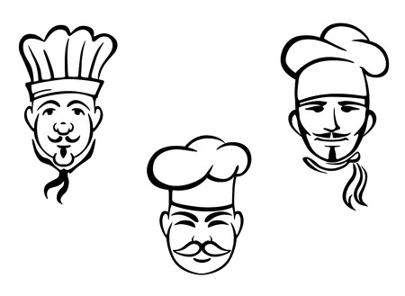 European restaurant chefs set for design. Vector illustration Vector