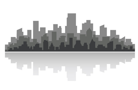 Downtown cityscape for business concept design. Vector illustration Illustration