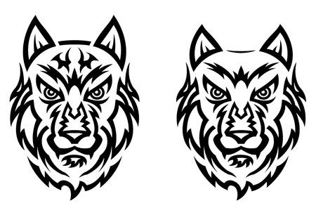Wolf tattoo in tribal style. Vector illustration Vector