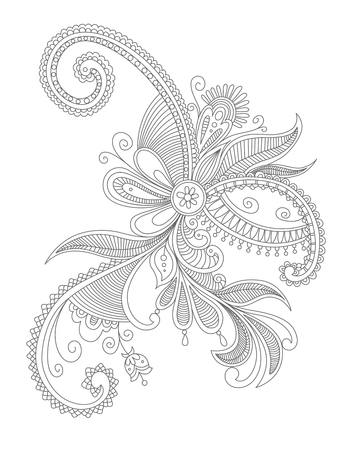 Abstract flourish background with decorative elements. Vector illustration Illustration