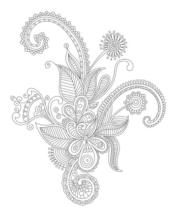 Abstract flourish background with decorative embellishments. Vector illustration