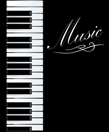 black piano: Piano background for musical design. Vector illustration