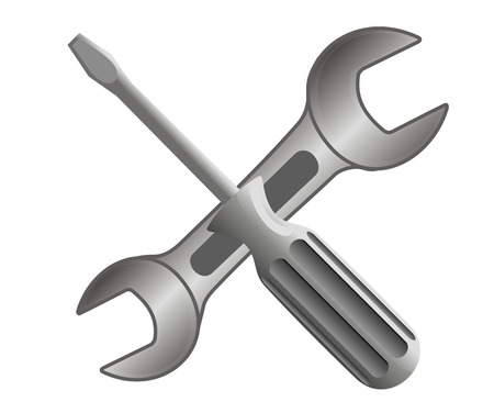 utility: Repair and service equipment icon. Vector illustration