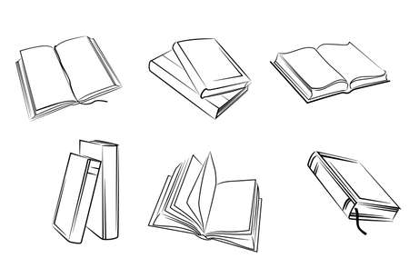 Set of isolated books silhouettes. Vector illustration Stock Vector - 22473497