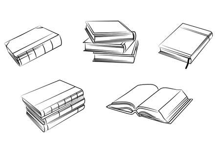 Set of isolated books silhouettes. Vector illustration Stock Vector - 22473500