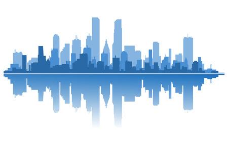 アーキテクチャ設計のための近代的な都市シルエット。ベクトル イラスト  イラスト・ベクター素材