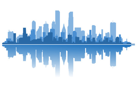 Modern city silhouette for architecture design. Vector illustration  イラスト・ベクター素材
