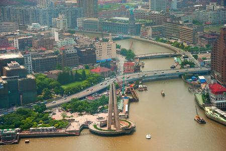 huangpu: Landscape of coast Huangpu in bird eye view