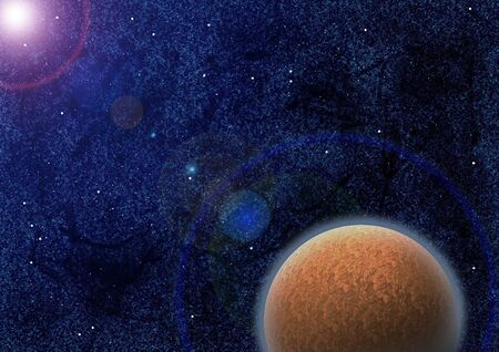 Mysterious planet in space as a concept