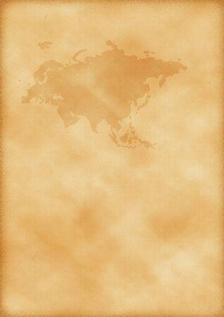 mapa de europa: Antiguo mapa de Europa y Asia como un fondo