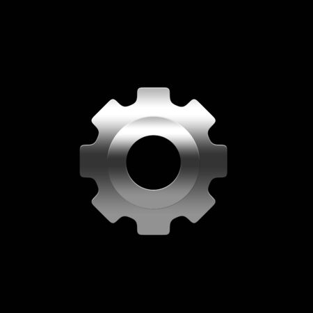 Isolated pinion (gear) on the black background Stock Photo