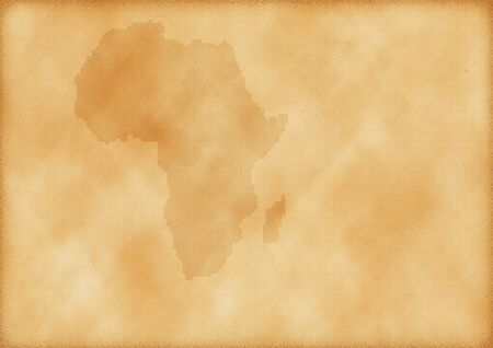Old map of Africa as a background Imagens