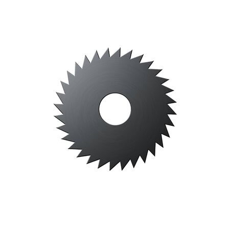 Isolated blade of saw on the white background Imagens