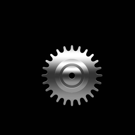 Isolated pinion (gear) on the black background Imagens