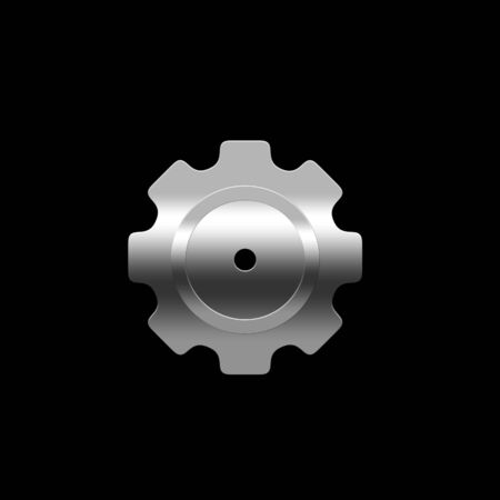 pinion: Isolated pinion (gear) on the black background Stock Photo