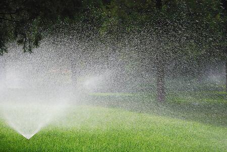sprinkling: sprinkling water machine in the garden
