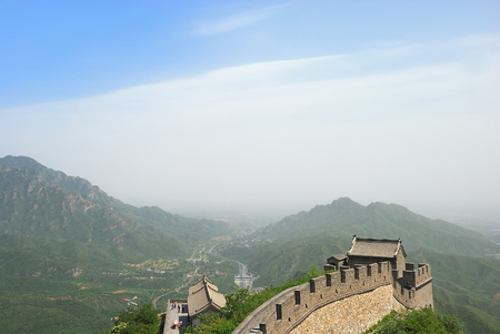 Beautiful landscape of Great Wall in Beijing Imagens
