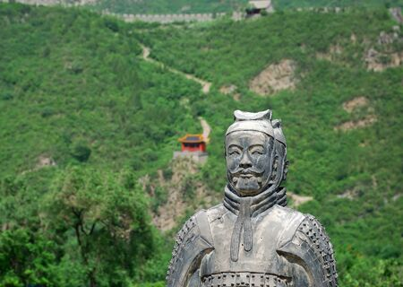 Old warrior near the Great Wall in China