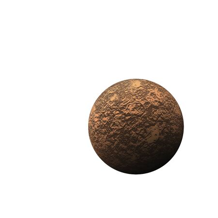 Isolated brown planet on the white background Imagens