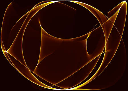 Brown and yellow waves as a beautiful abstract background