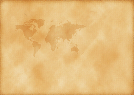 Old map of world as a background