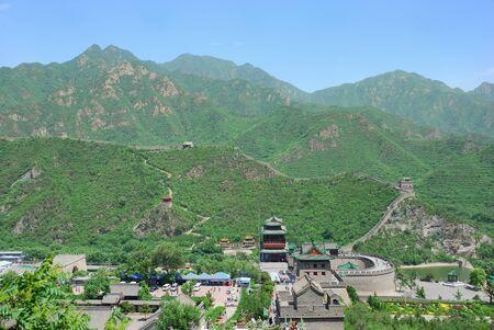 Beautiful landscape of Great Wall in Beijing Imagens