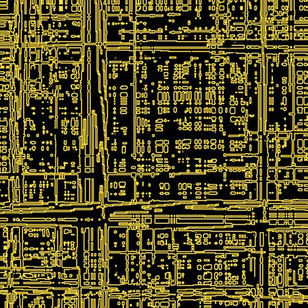 Computer microcircuit as a technology concept or background
