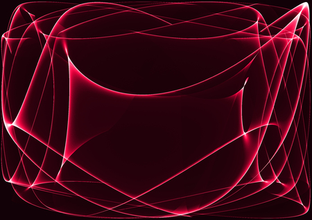 Red waves as a beautiful abstract background