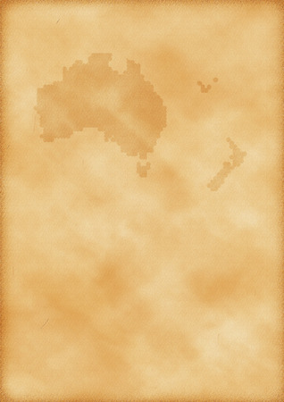 Old map of Australia and New Zealand as a background Imagens