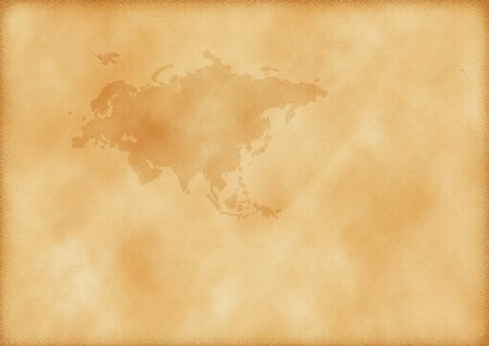 Old map of Europe and Asia as a background Imagens