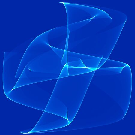 Blue waves as a beautiful abstract background Imagens