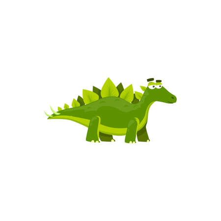 Stegosaurus stenops isolated cartoon kids toy. Vector dino ungulatus and sulcatus, ancient lizard. Stegosaurus triceraptor graze, herbivorous thyreophoran kentrosaurus prehistoric predator animal