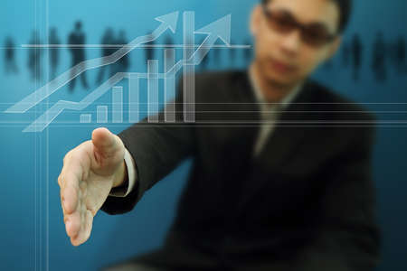A businessman is offering to shake hand Stock Photo - 10372922