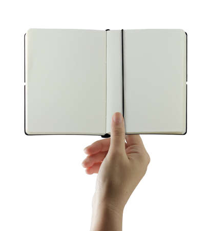 Hand holding and sending a book with blank Stock Photo - 10372633
