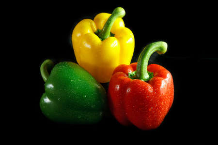bell peppers: Three colors of bell peppers