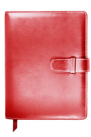 red leather note book photo