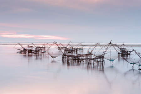 asia pacific: Native Asian fishery village in Southern Thailand,Morning time Stock Photo