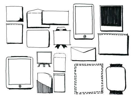 doodle art clipart: doodles Stock Photo