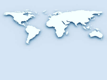 south east: Blue business world map