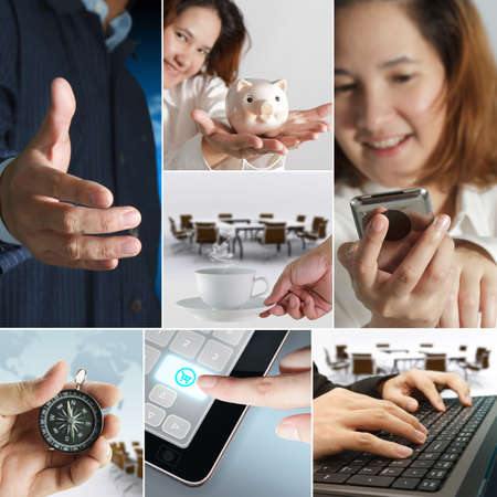 a business themed collage. Stock Photo - 11321636