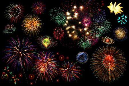 colourful fire: Fireworks collection