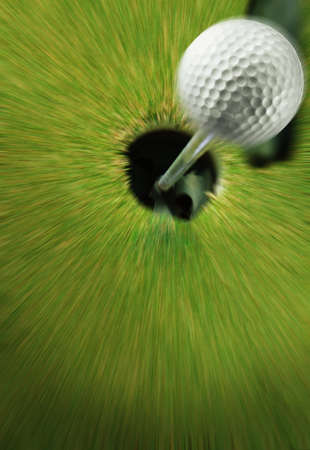 spare time: moving golf ball to 18th hole