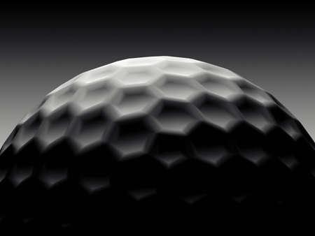balle de golf: �l�gant de Golf Boule Noire