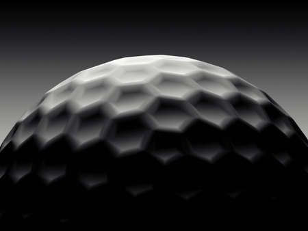 Stylish of Golf Ball Black photo