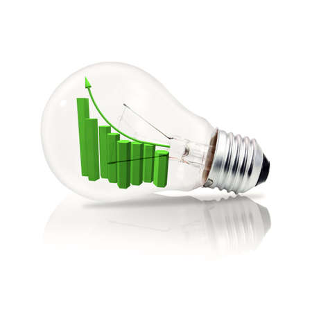 Bulb and business graph photo