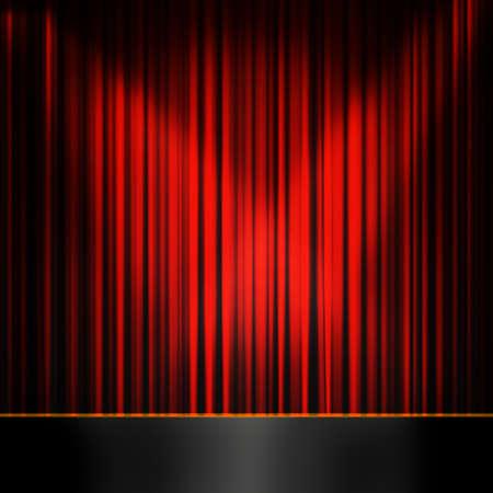 asiento: Antiguo escenario de moda, el teatro elegante, con cortinas de terciopelo Foto de archivo